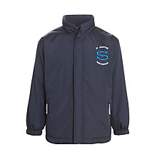 Buy St Martin's School for Boys Reversible Coat, Navy Blue Online at johnlewis.com