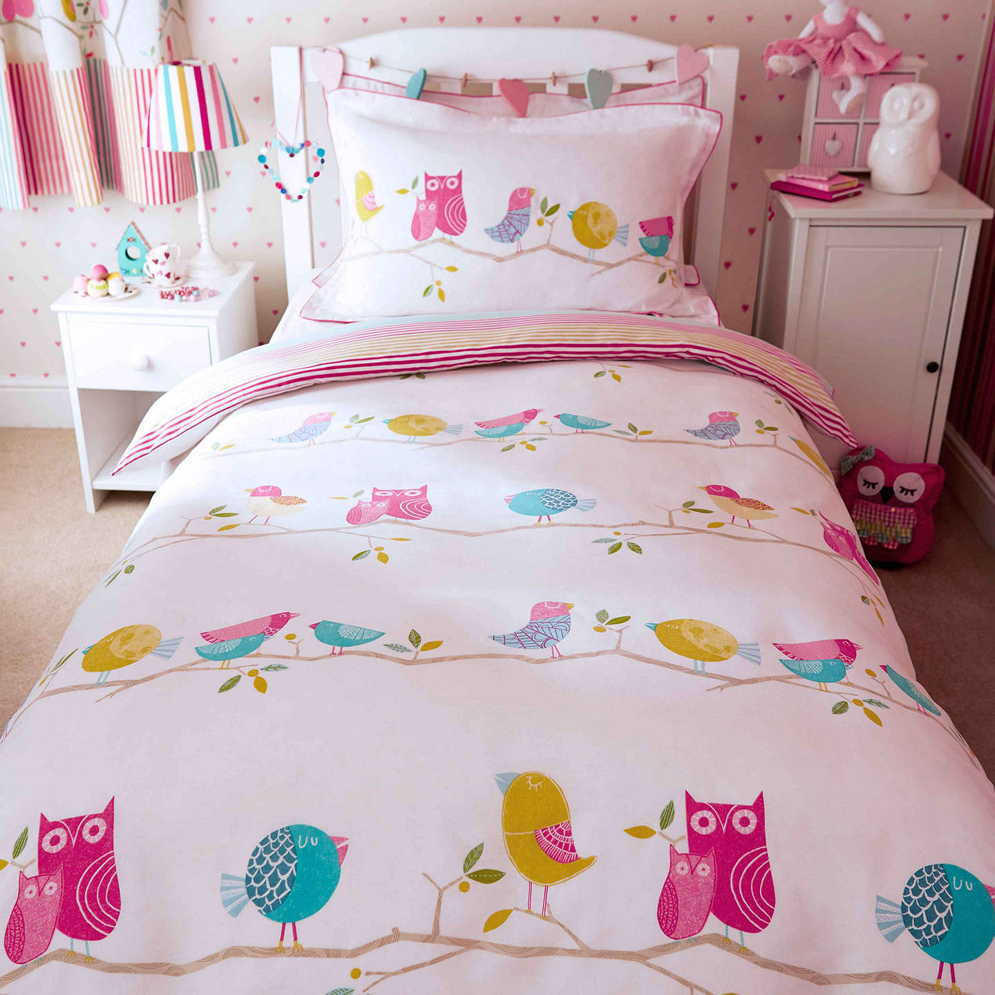 Harlequin What A Hoot Owls Duvet Cover And Pillowcase Set Double Online At Johnlewis