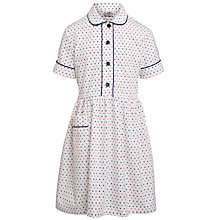 Buy Alpha Prep School Girls' Summer Dress, White/Multi Online at johnlewis.com