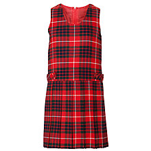 Buy Alpha Prep School Girls' Tunic, Red/Multi Online at johnlewis.com