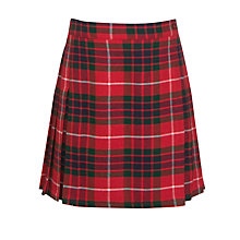 Buy Alpha Prep School Girls' Kilt, Red/Multi Online at johnlewis.com