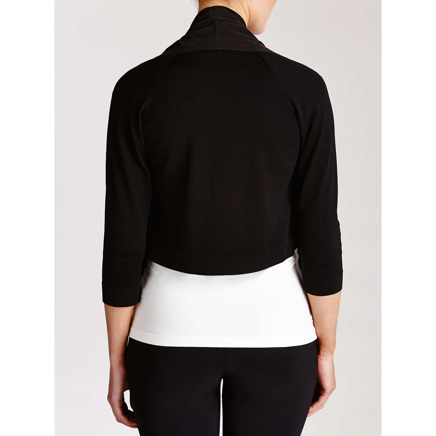 BuyCrea Concept Waterfall Cardigan, Black, 12 Online at johnlewis.com