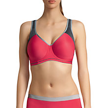 Buy Freya Sports Underwired Moulded Crop Top Bra, Hot Crimson Online at johnlewis.com