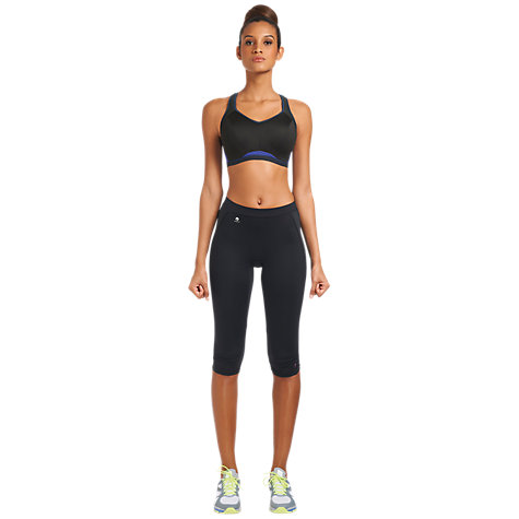 Buy Freya Sports Crop Top Bra, Electric Black Online at johnlewis.com