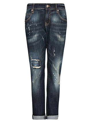 Buy Mango Lonny Dark Wash Boyfriend Jeans, Navy, 6 Online at johnlewis.com