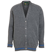 Buy Westville House School Girls' V-Neck Cardigan, Grey Online at johnlewis.com