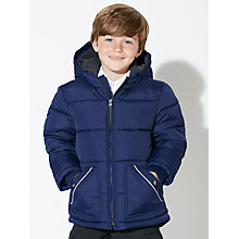 Buy John Lewis Boys' Padded School Jacket, Navy Online at johnlewis.com