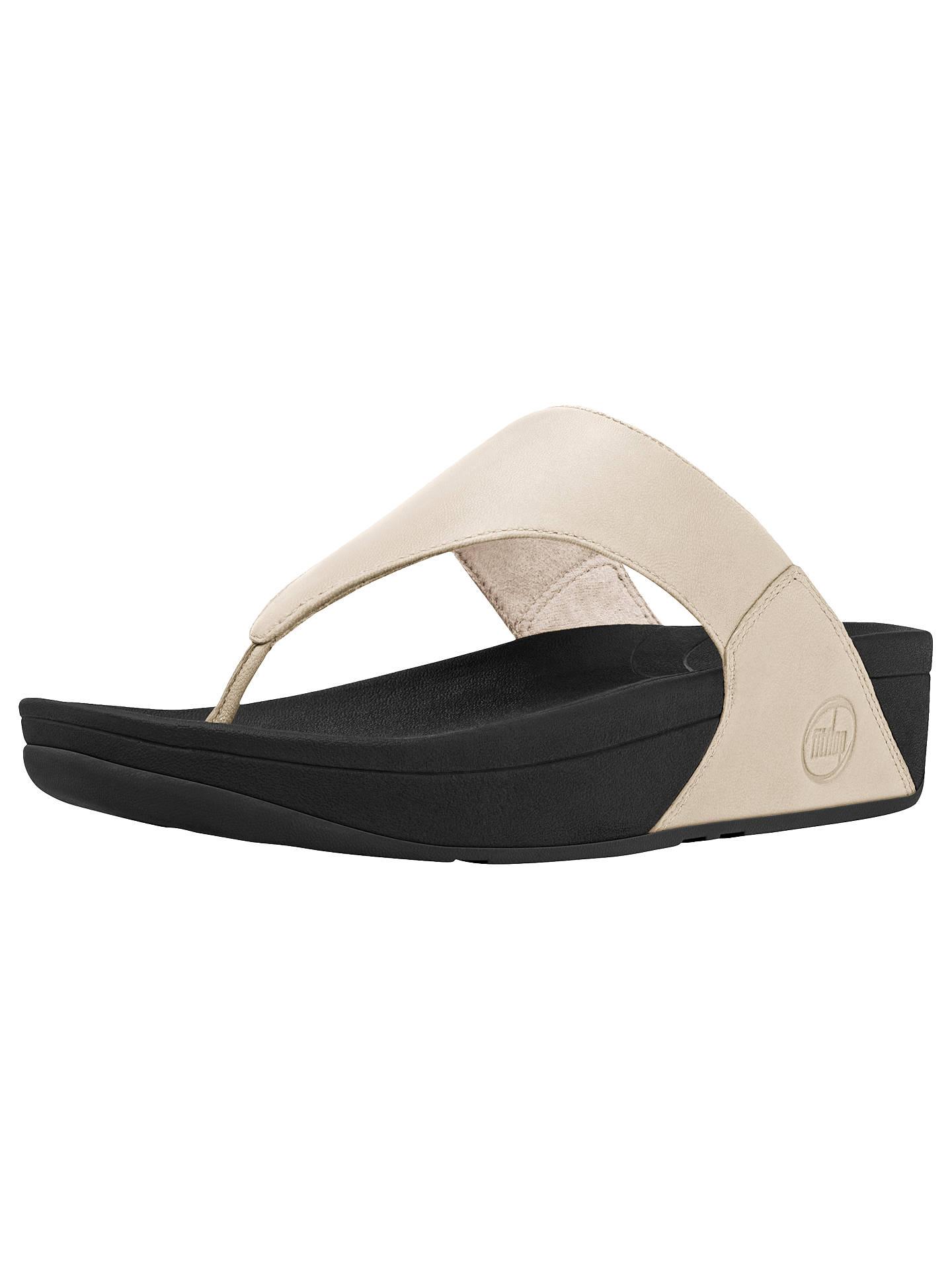 436ee84671329 FitFlop Lulu Leather Flip Flops at John Lewis   Partners