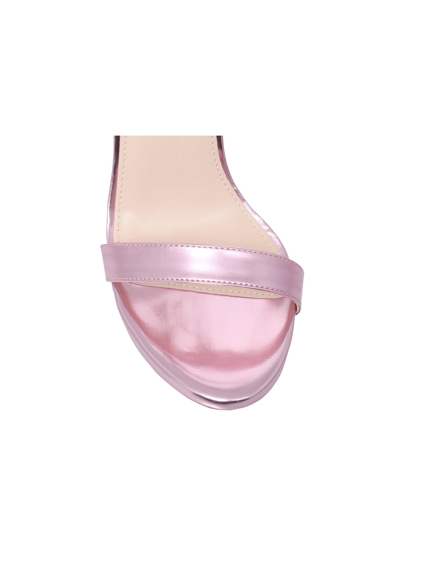 Buy Carvela Glacier Ankle Strap Statement Stiletto Sandals, Pink, 3 Online at johnlewis.com