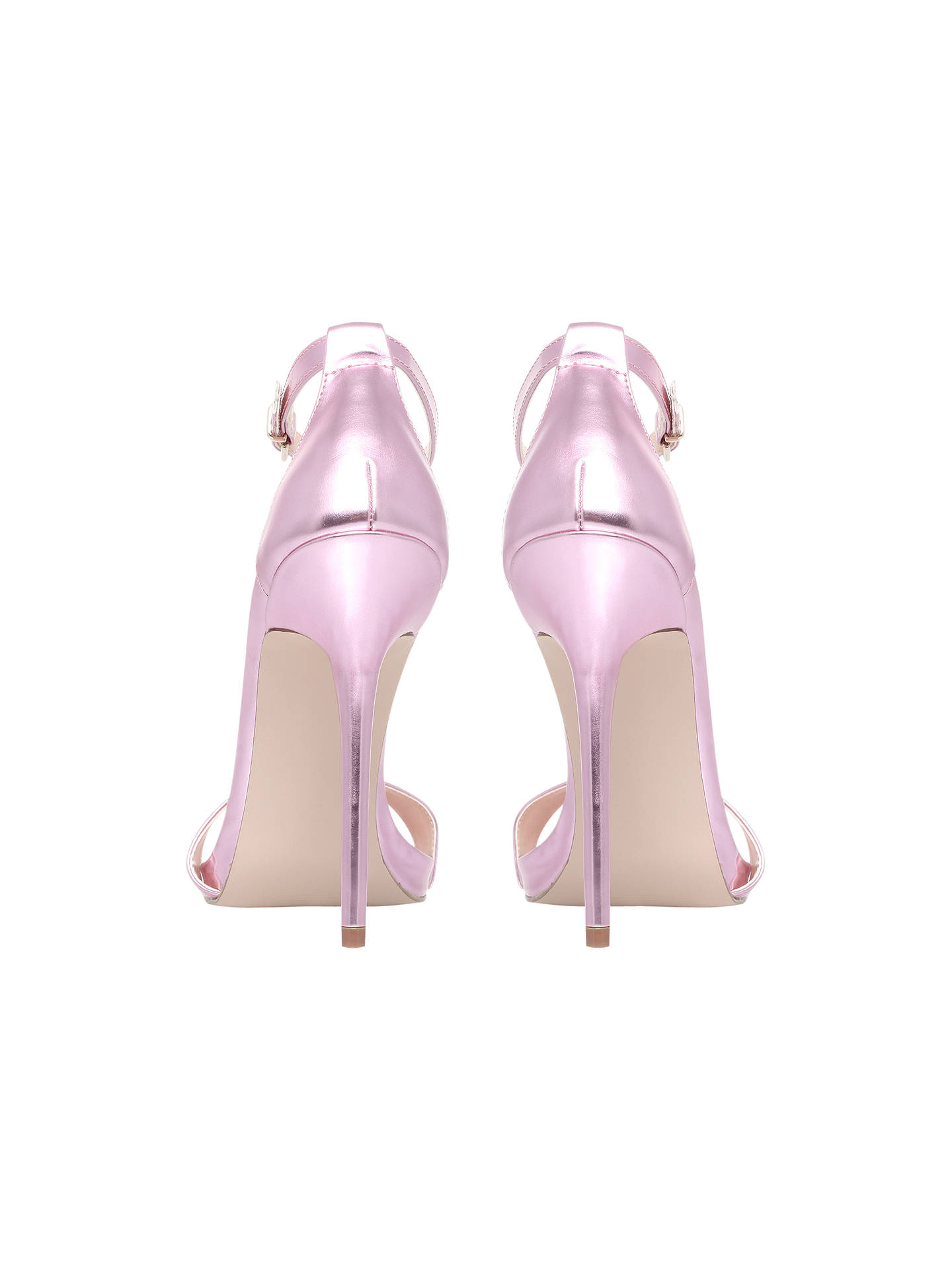 Buy Carvela Glacier Ankle Strap Statement Stiletto Sandals, Pink, 5 Online at johnlewis.com