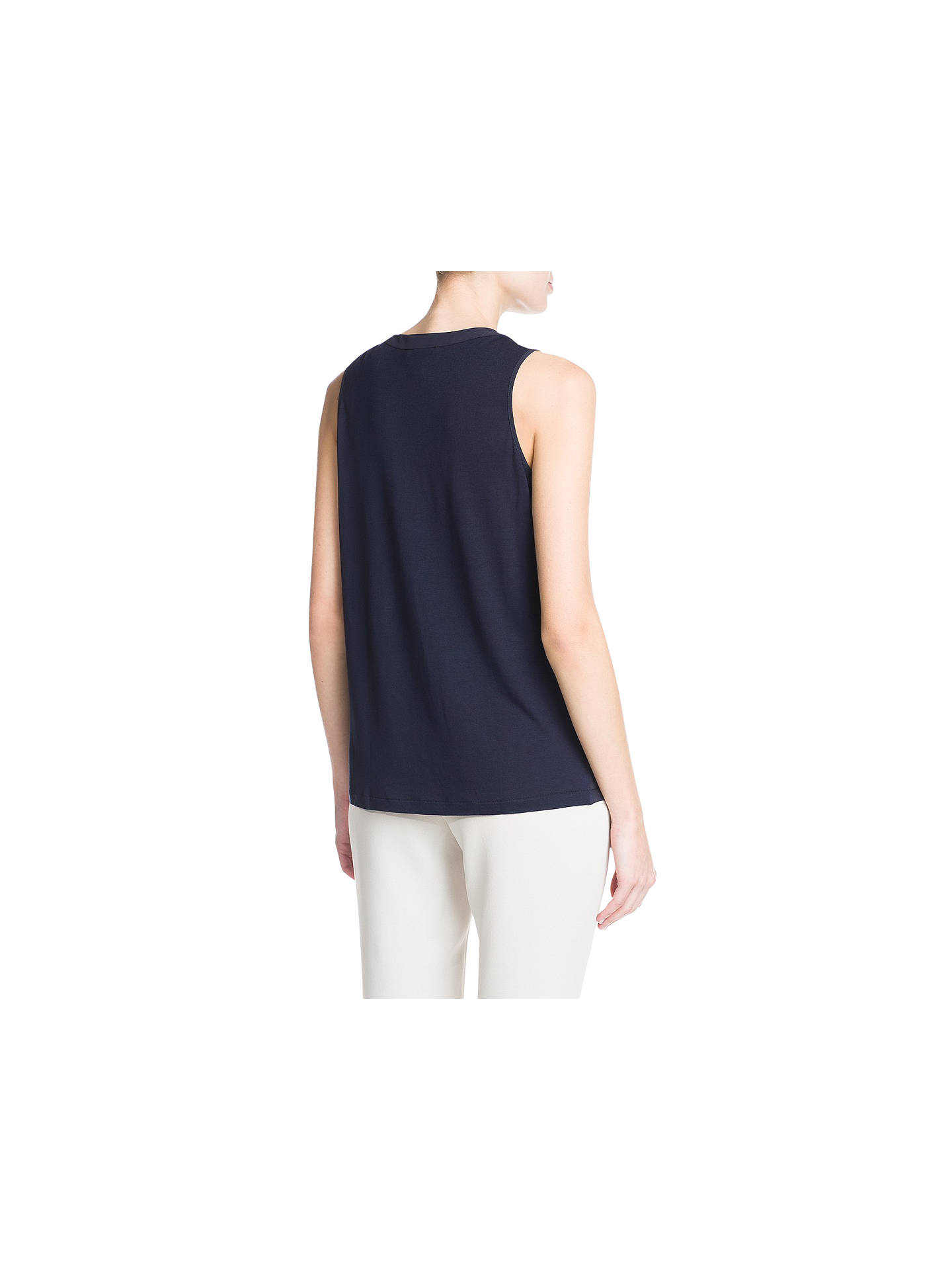 BuyMango Double Layer Chiffon Blouse, Dark Blue, 8 Online at johnlewis.com