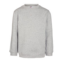 Buy John Lewis Unisex School Sweatshirt, Grey Online at johnlewis.com