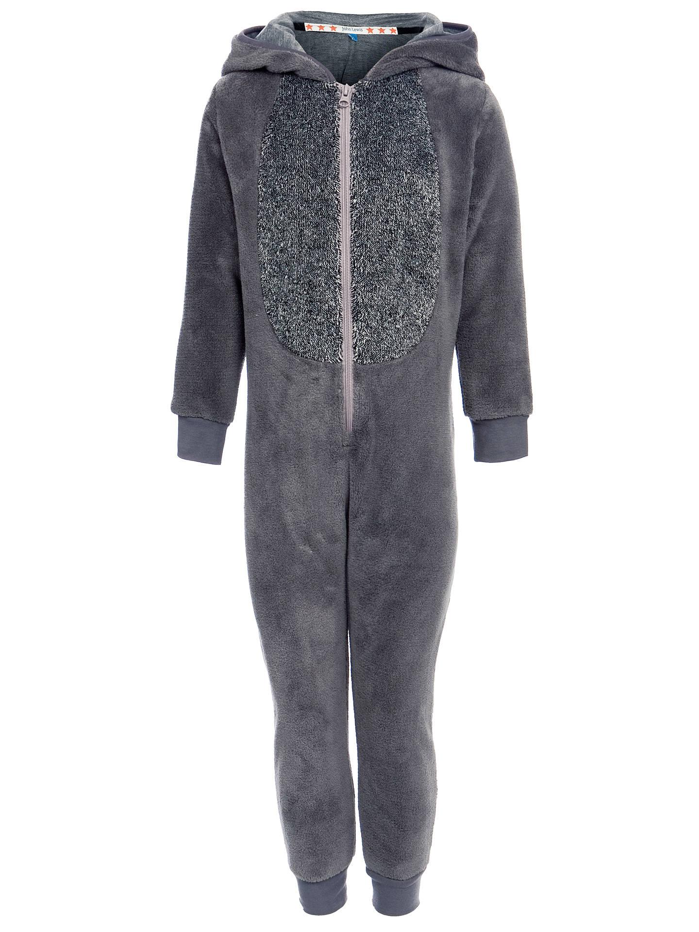 bcb31b6a7648 Buy John Lewis Raccoon Fleece Onesie