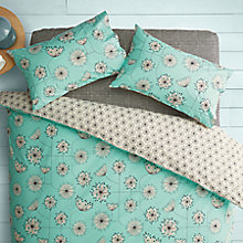 Buy MissPrint Home Dandelion Mobile Cotton Duvet Cover and Pillowcase Set,Duck Egg Online at johnlewis.com