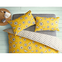 Buy MissPrint Home Dandelion Mobile Cotton Duvet Cover and Pillowcase Set, Yellow Online at johnlewis.com