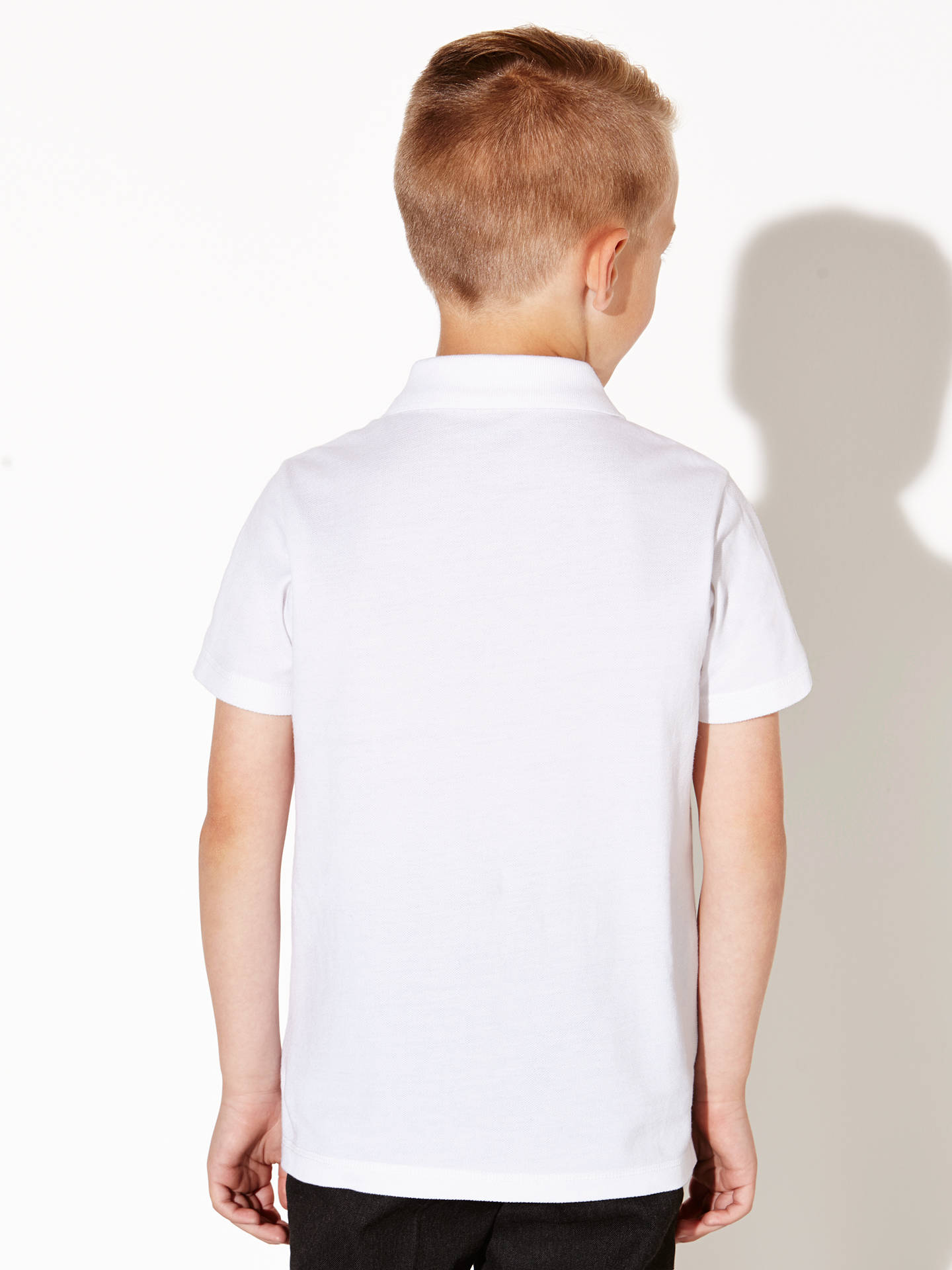 BuyJohn Lewis & Partners The Basics 100% Pure Cotton Polo Shirt, Pack of 2, White, 3 years Online at johnlewis.com