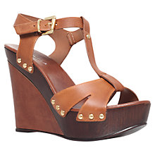 Buy Carvela Katey Leather Sandals, Tan Online at johnlewis.com