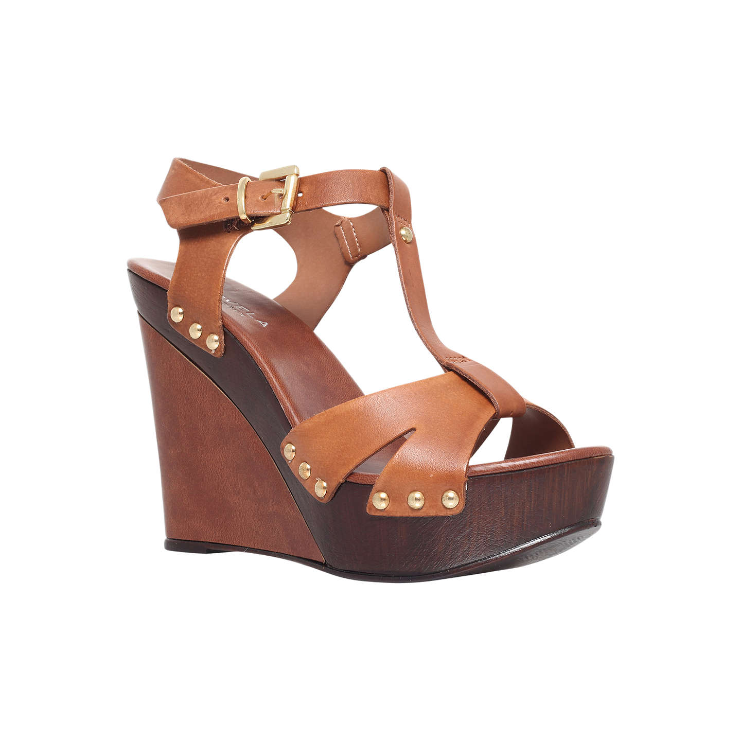 BuyCarvela Katey Leather Sandals, Tan, 3 Online at johnlewis.com
