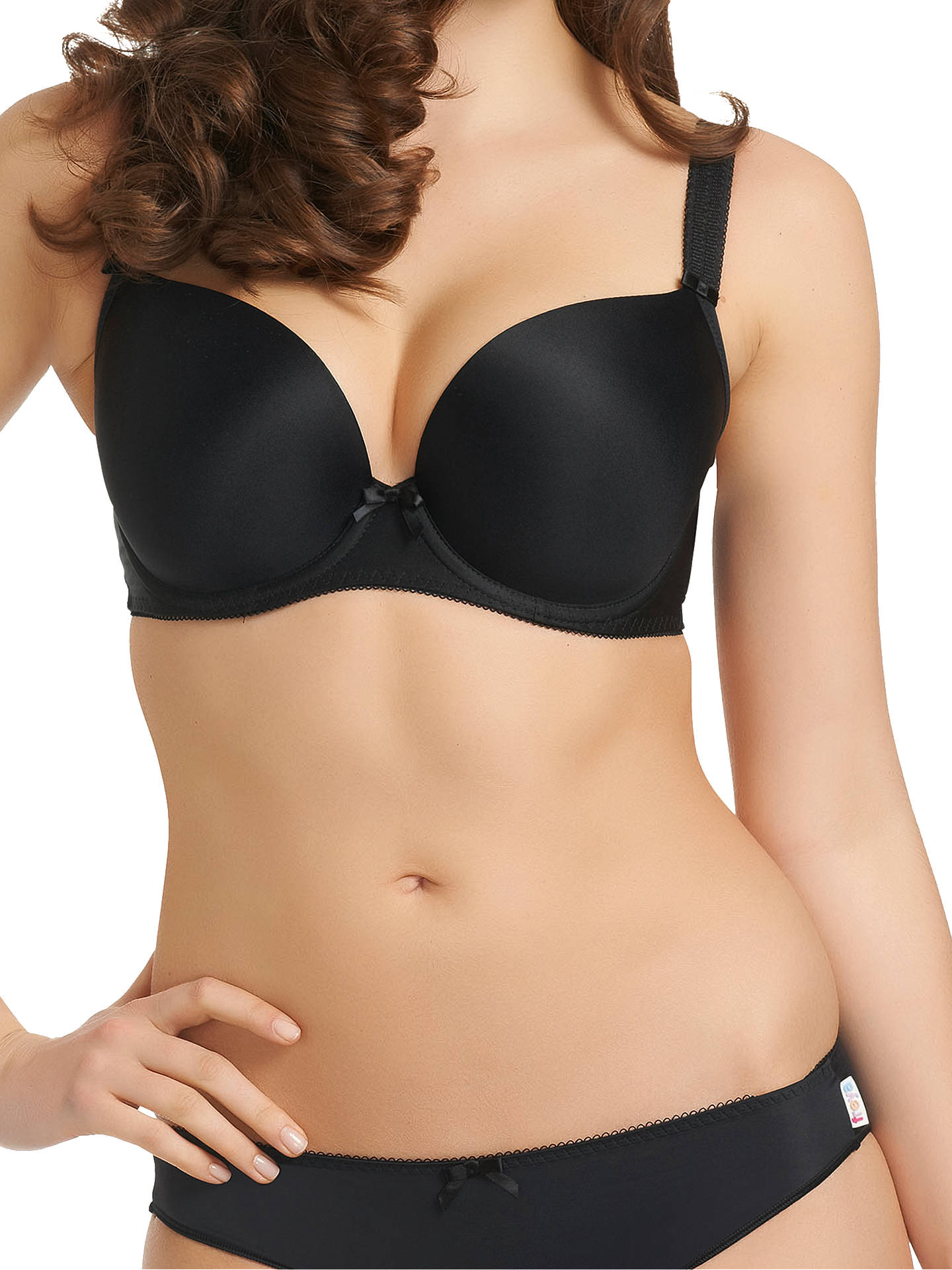 Buy Freya Deco Underwired Plunge Bra, Black, 28DD Online at johnlewis.com