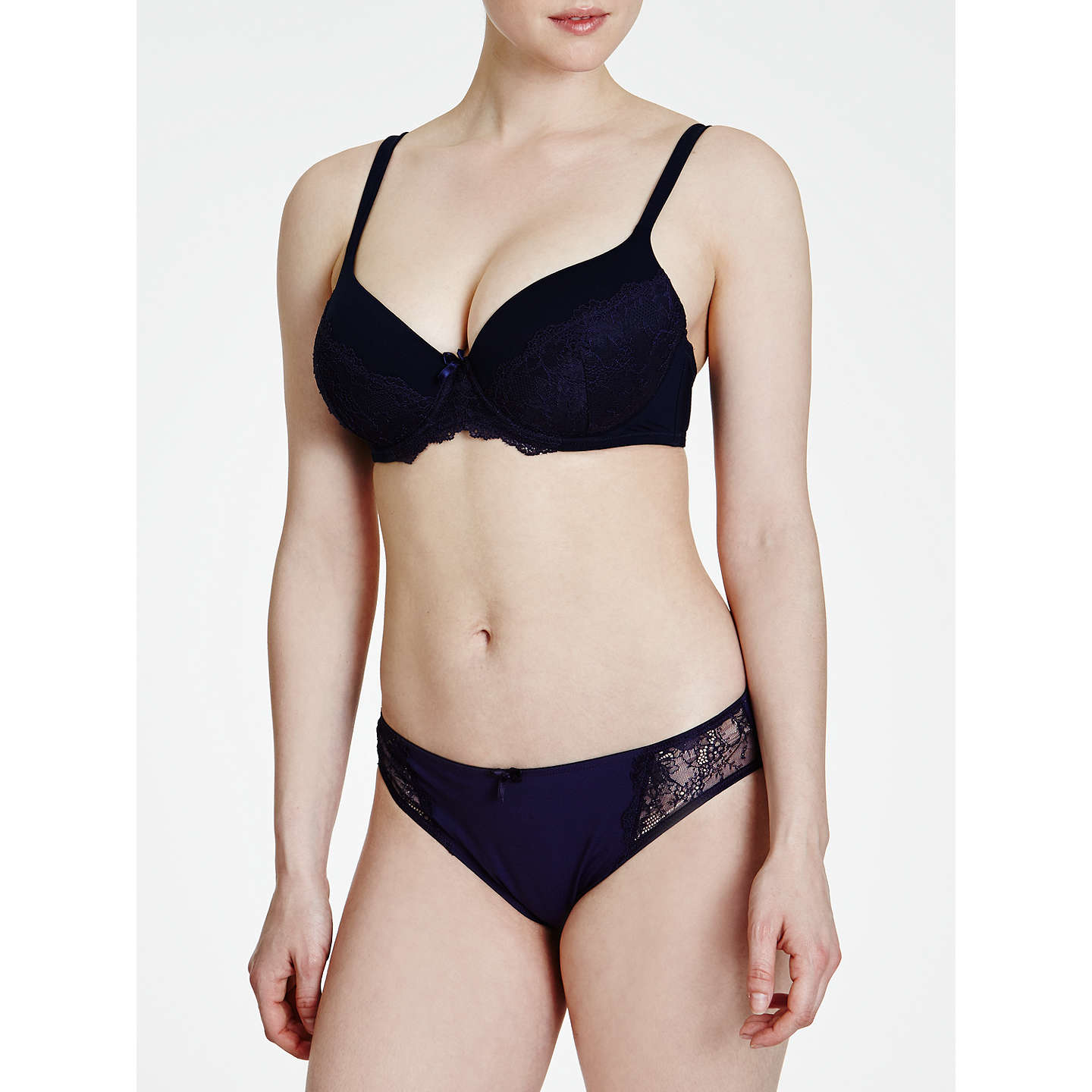 BuyCOLLECTION by John Lewis Sophia Plunge Bra, Navy, 30B Online at johnlewis.com
