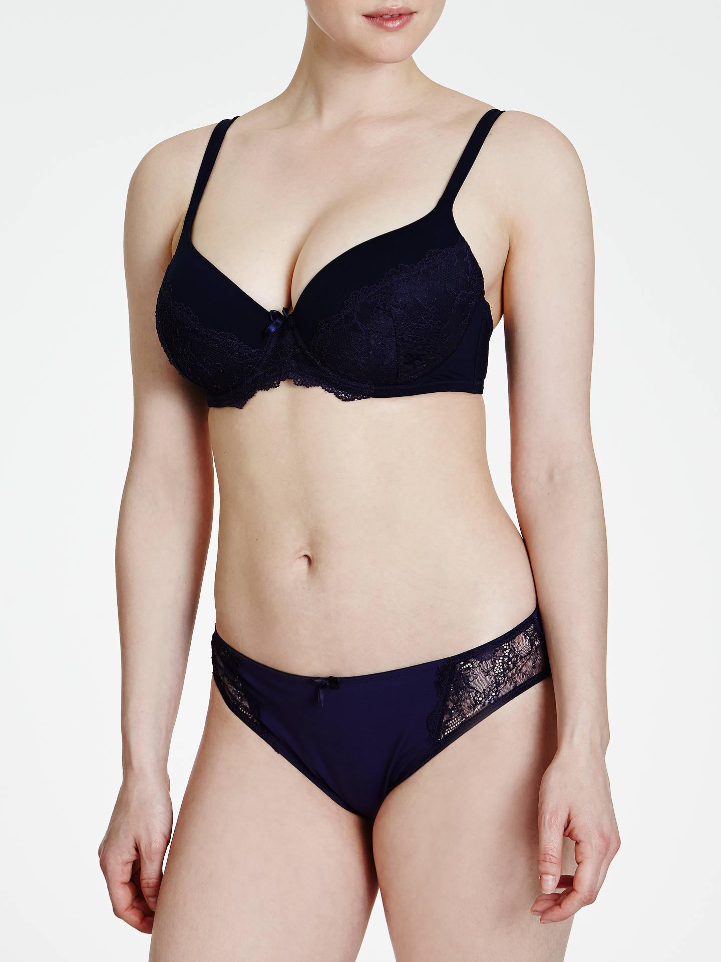 John Lewis Sophia Lace Detail Briefs Black//Cream Choose Your Size Free P/&P UK