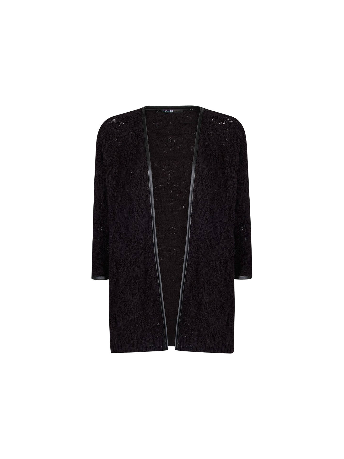 d79ef5def Mango Faux Leather Trim Cardigan at John Lewis   Partners
