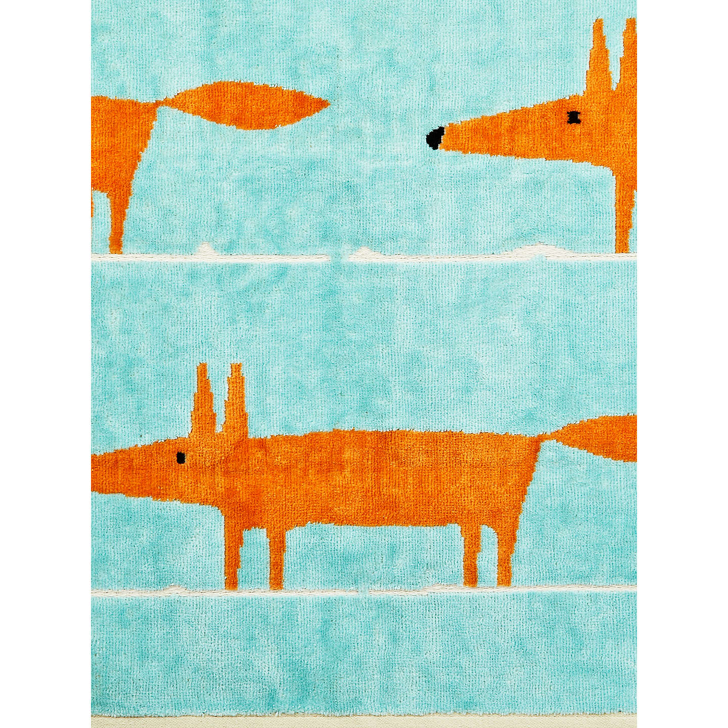 BuyScion Mr. Fox Guest Towel, Aqua Online at johnlewis.com