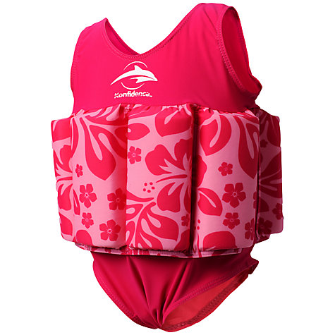 Buy Konfidence Hibiscus Floatsuit, Pink/Multi Online at johnlewis.com