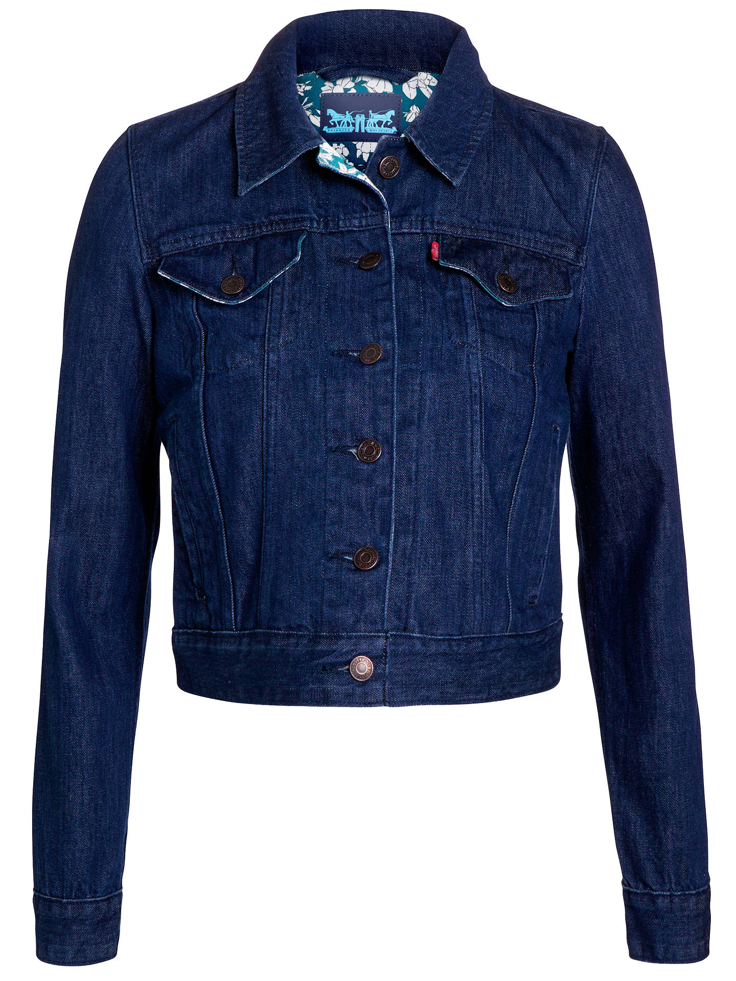 Buy Levi's Authentic Trucker Jacket, Blue, S Online at johnlewis.com