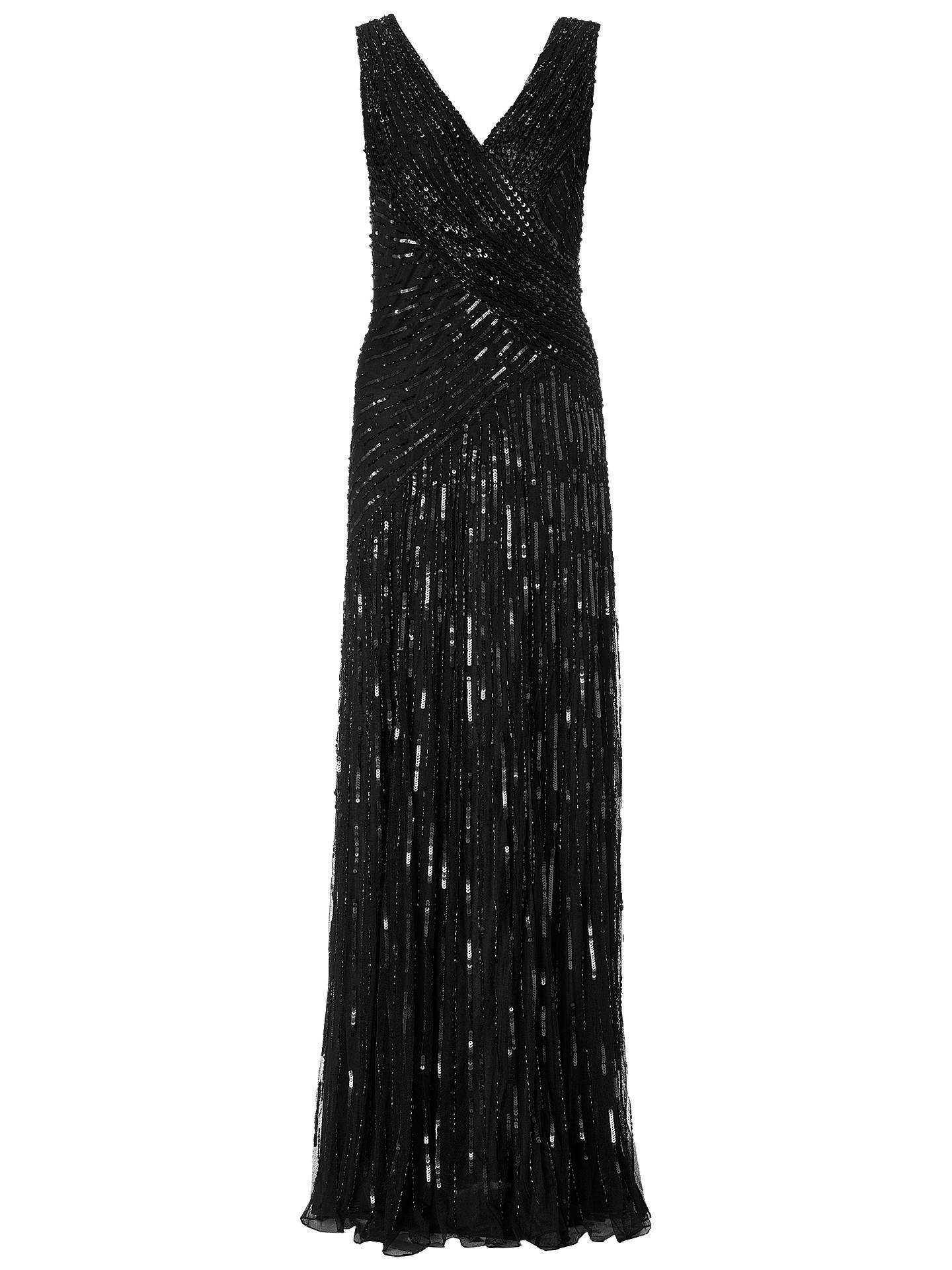 1afabf84 Buy Ariella Juliet Sequin Long Dress, Black, 8 Online at johnlewis.com ...