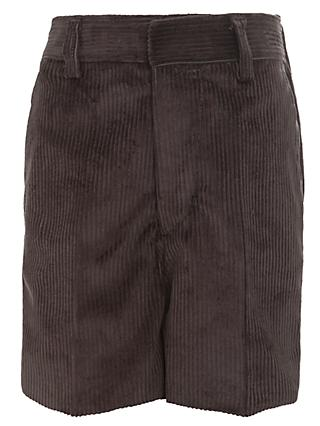 Boys' Cord Shorts, Grey
