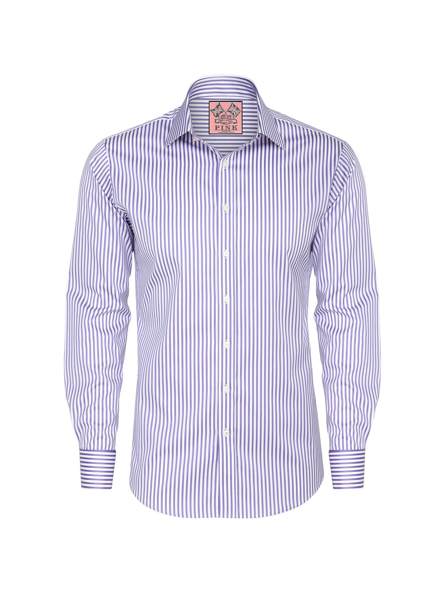 4dd585c6 Buy Thomas Pink Algernon Stripe Shirt, Purple/White, 14 Online at johnlewis.