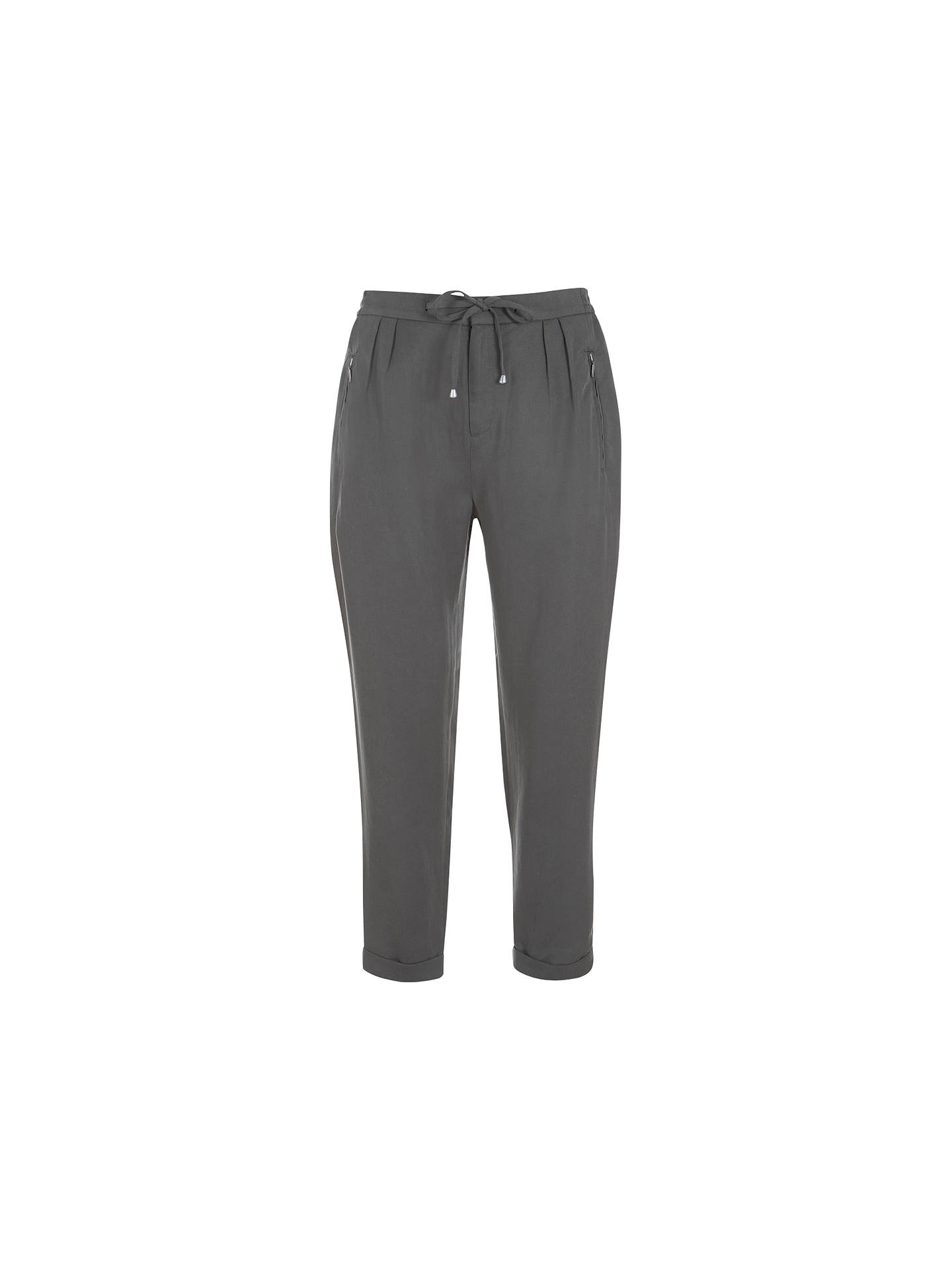 Buy Mint Velvet Zip Ankle Trousers, Khaki, 8 Online at johnlewis.com