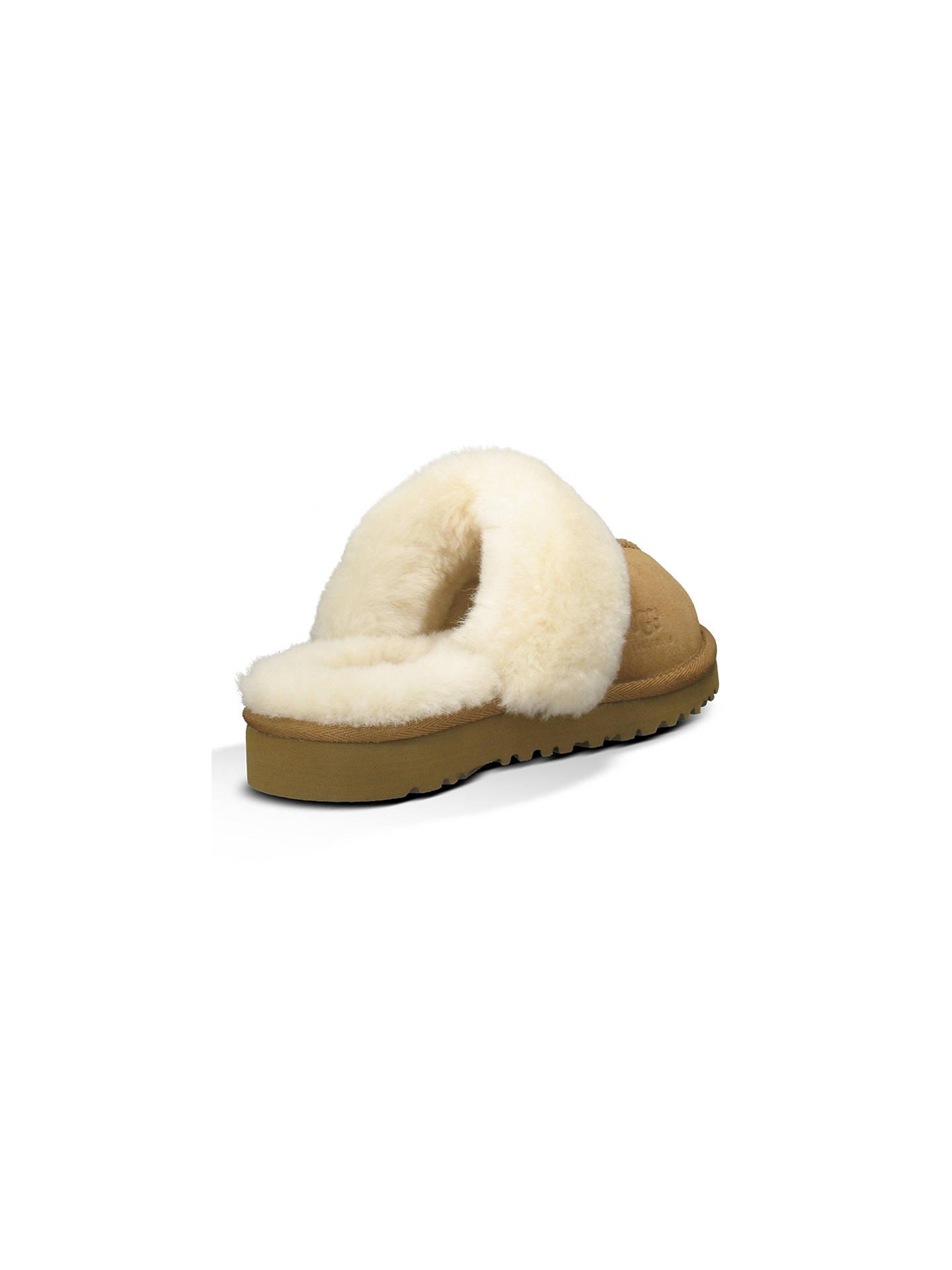96dd98fb21f UGG Children's Cozy Mule Slippers, Chestnut at John Lewis & Partners