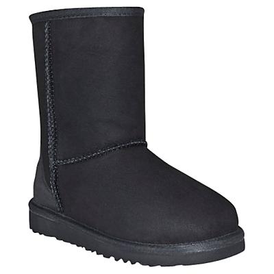 UGG Children's Classic Short Boots, Black