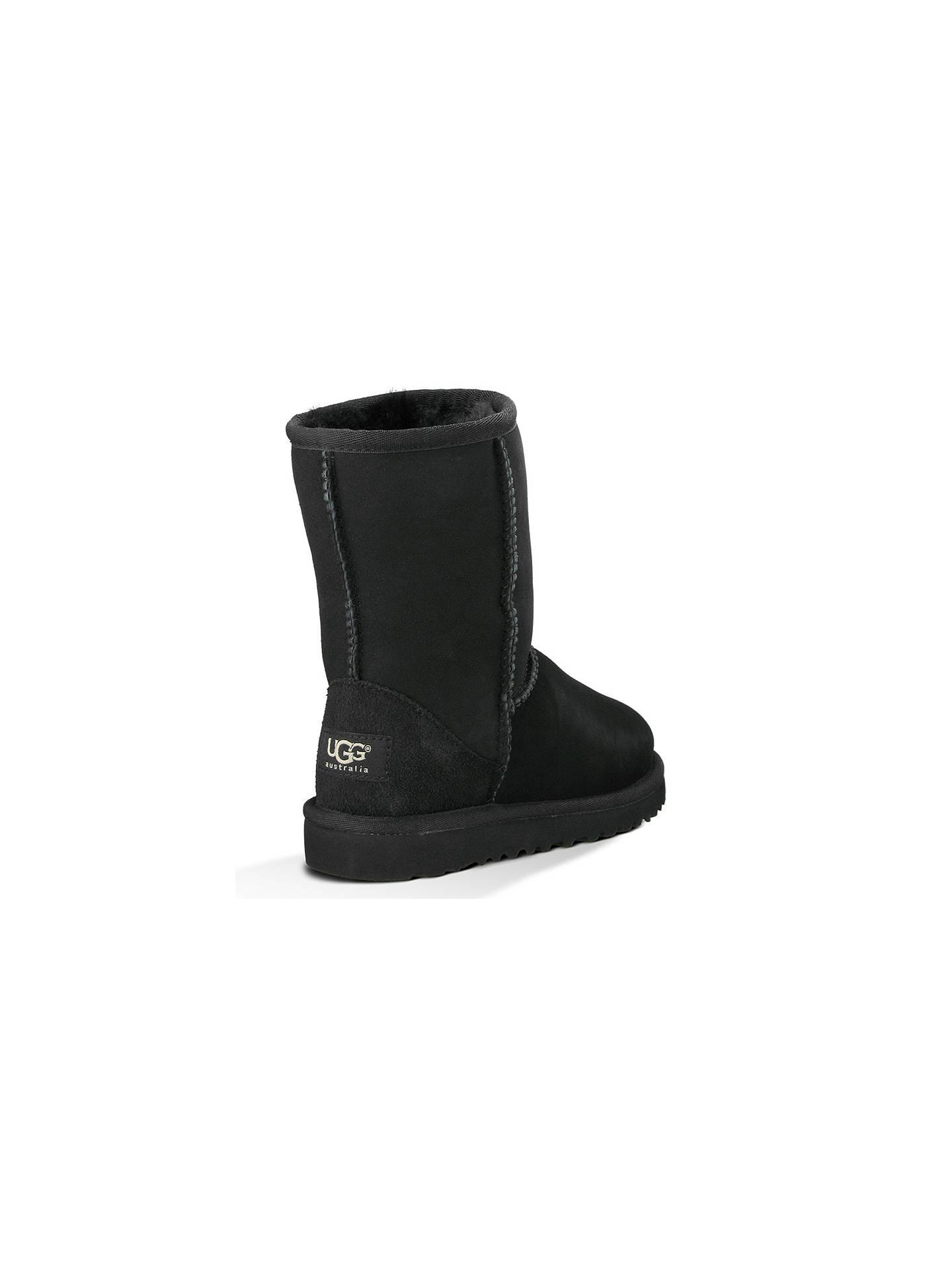 3224b5c1bf0 UGG Children's Classic Short Boots, Black at John Lewis & Partners