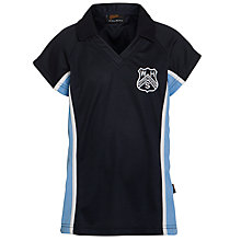 Buy Westville House School Girls' Games Polo Shirt, Navy/Sky Online at johnlewis.com