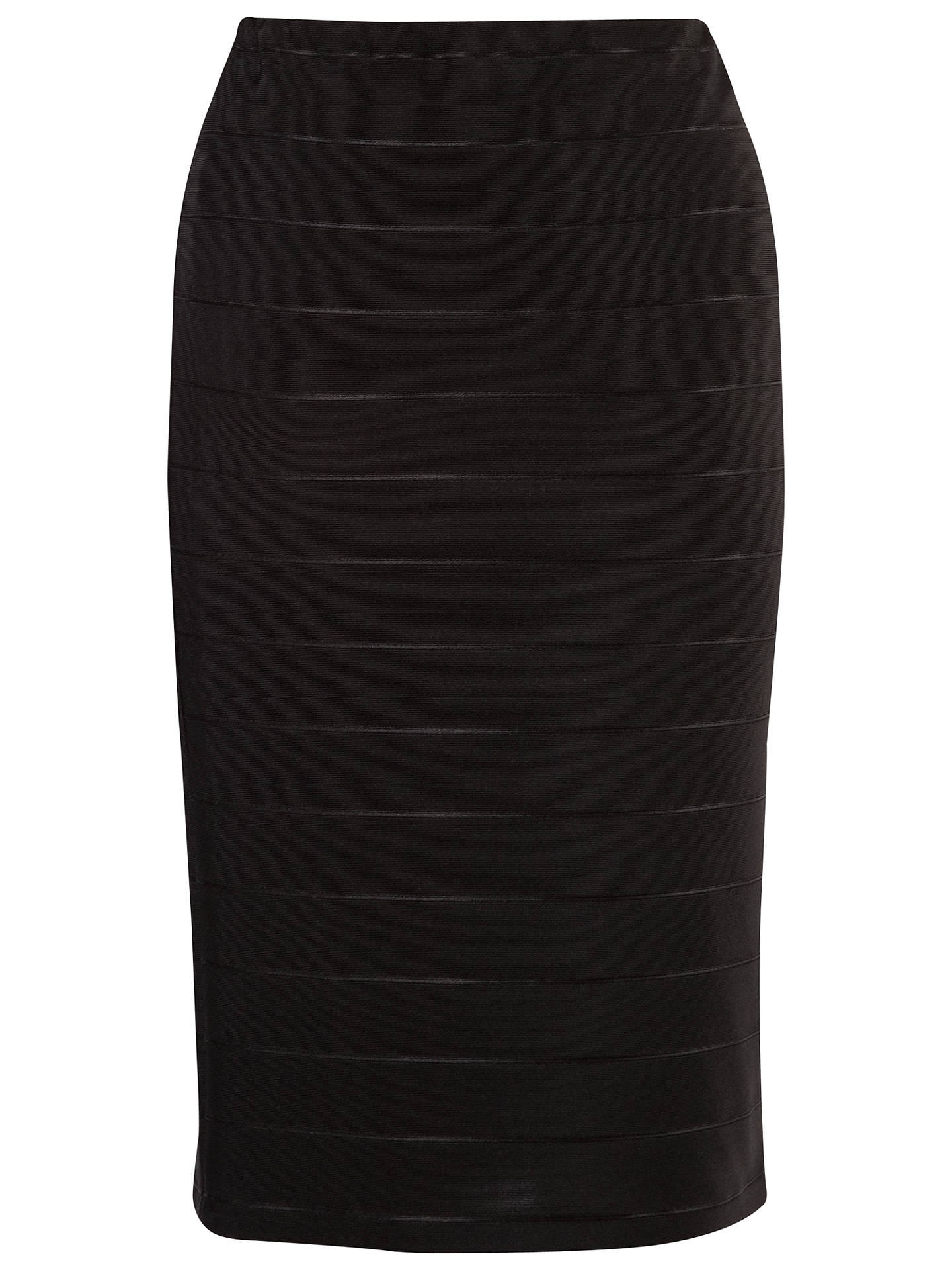Buy Chesca Ottoman Self Striped Skirt, Black, 12 Online at johnlewis.com