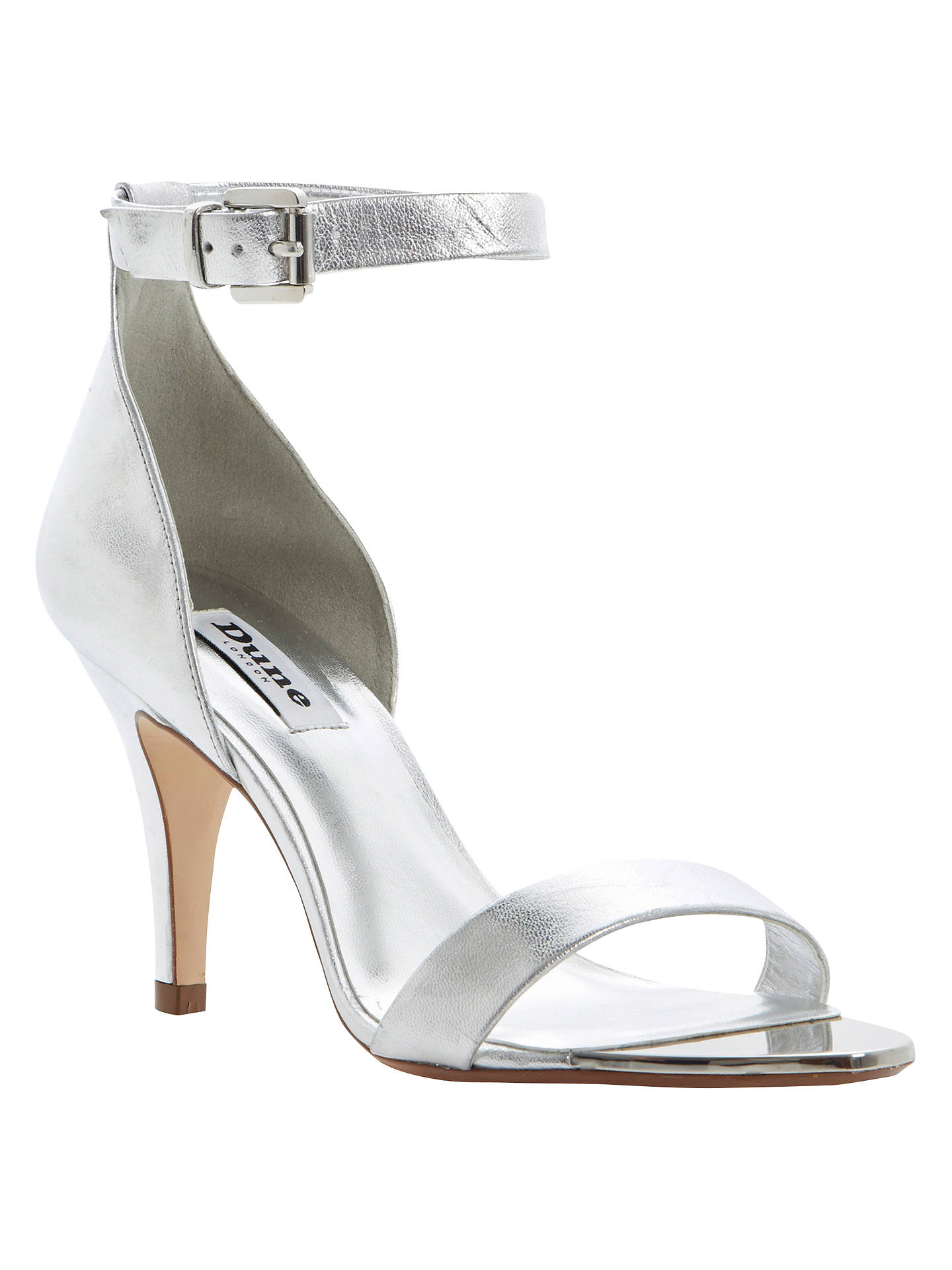 8a55ab5f320 Dune Hunnie Ankle Strap Two Part Leather Stiletto Court Shoe at John ...