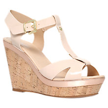 Buy Carvela Kabby Heeled Wedges, Nude Online at johnlewis.com