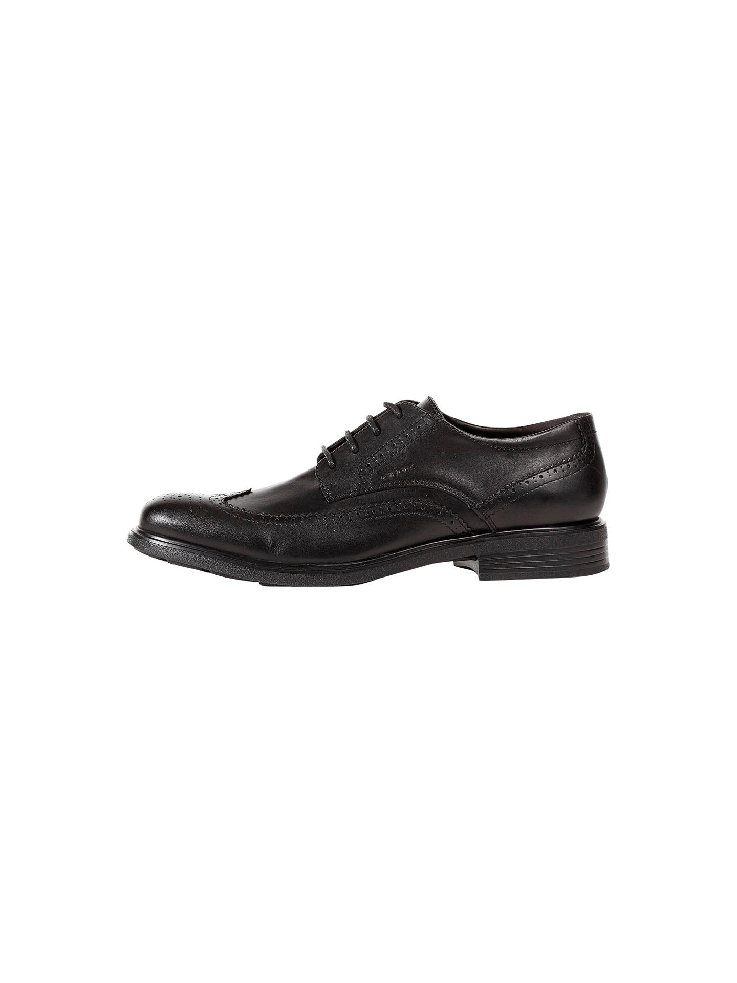 save off b7647 cdc34 Geox Dublin Brogue Derby Shoes, Black at John Lewis & Partners