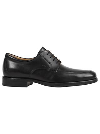 Geox Federico Apron Toe Derby Shoes, Black