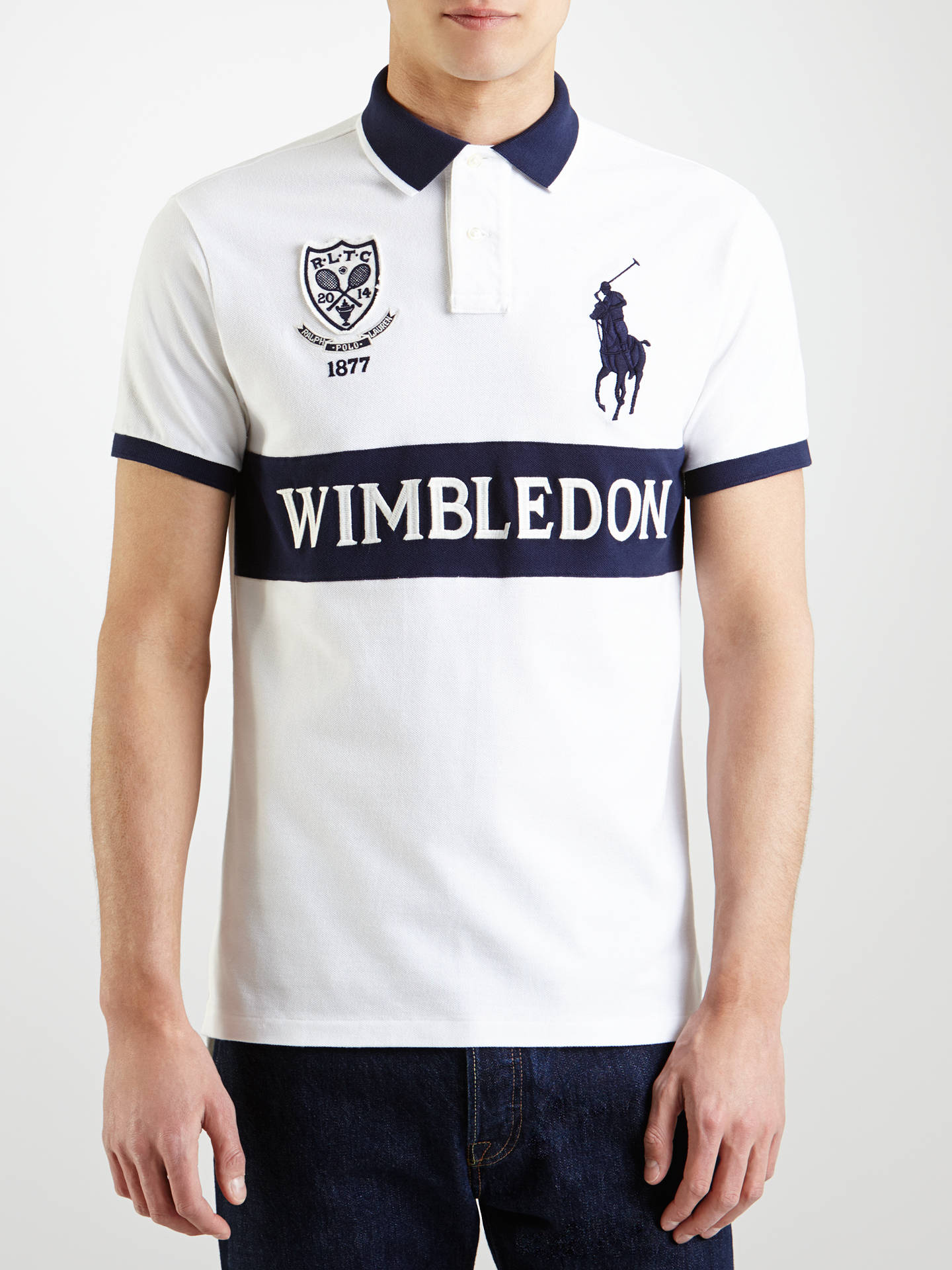 Polo Ralph Lauren Custom Wimbledon Polo Shirt Whitenavy At John