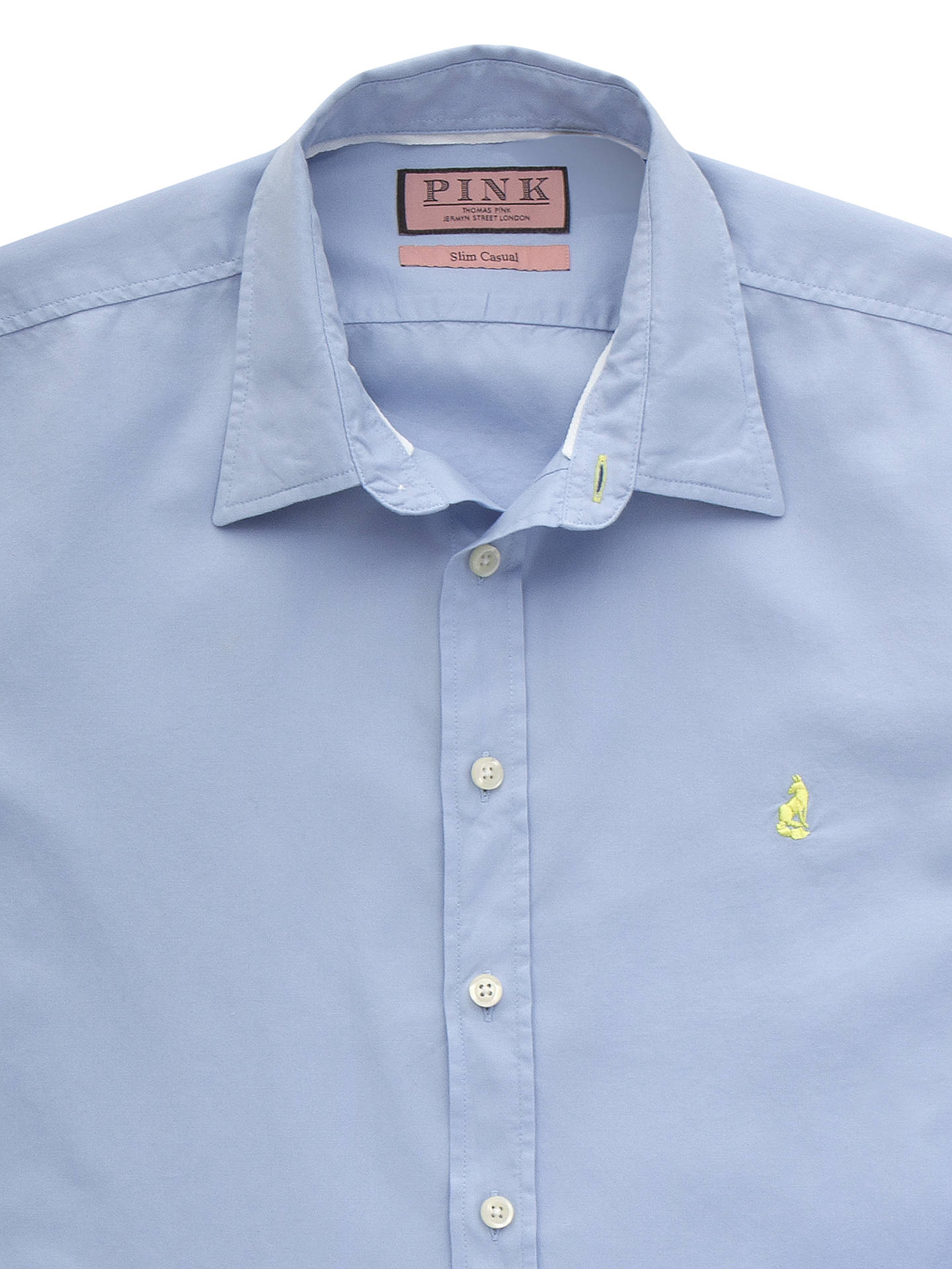 Thomas Pink Drake Plain Long Sleeve Shirt At John Lewis Partners Tendencies Longshirt Navy Buythomas Blue S Online