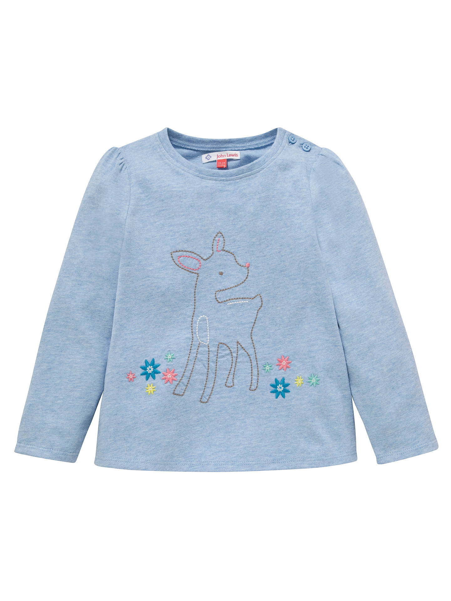 8cbd665185ca John Lewis Marl Stitched Deer T-Shirt