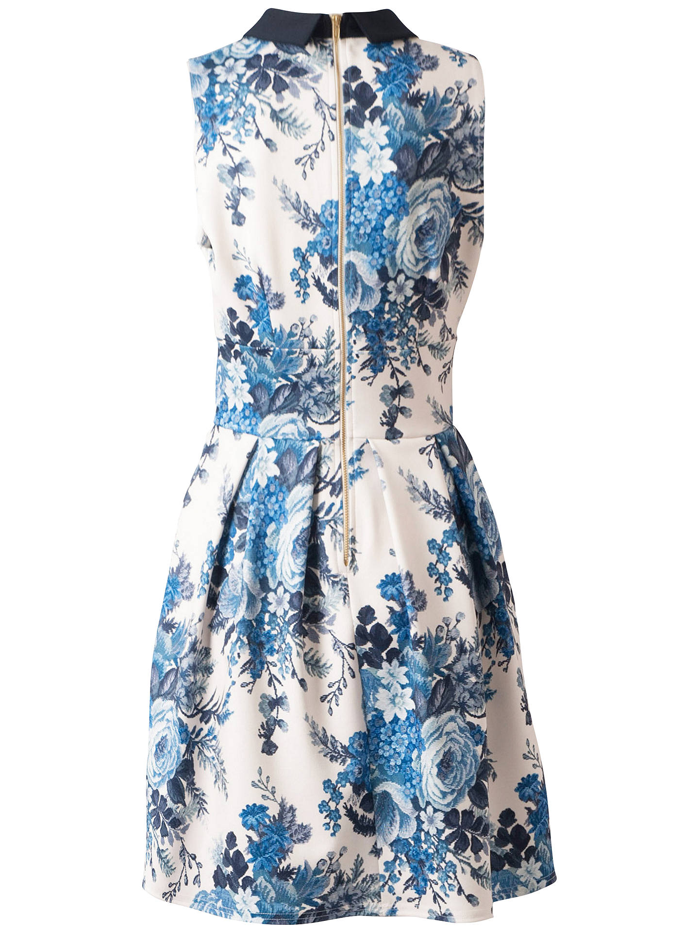 BuyCloset Tapestry Print Collar Dress, Blue Print, 8 Online at johnlewis.com