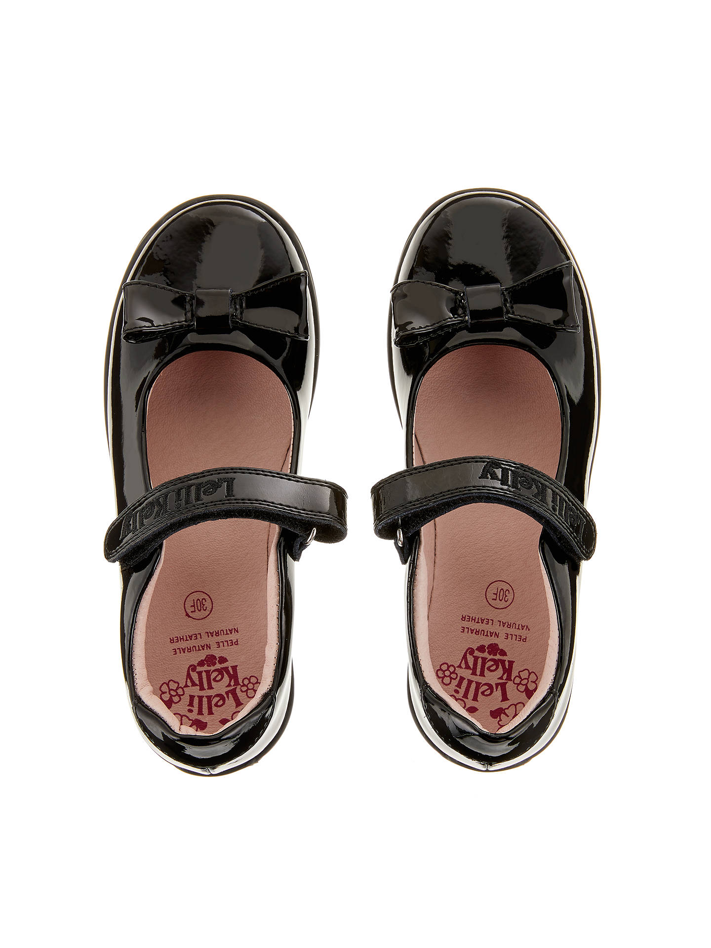 f1224ab9c9b4c Buy Lelli Kelly Children's Perrie Patent Leather Shoes, Black, 28 Online at  johnlewis.