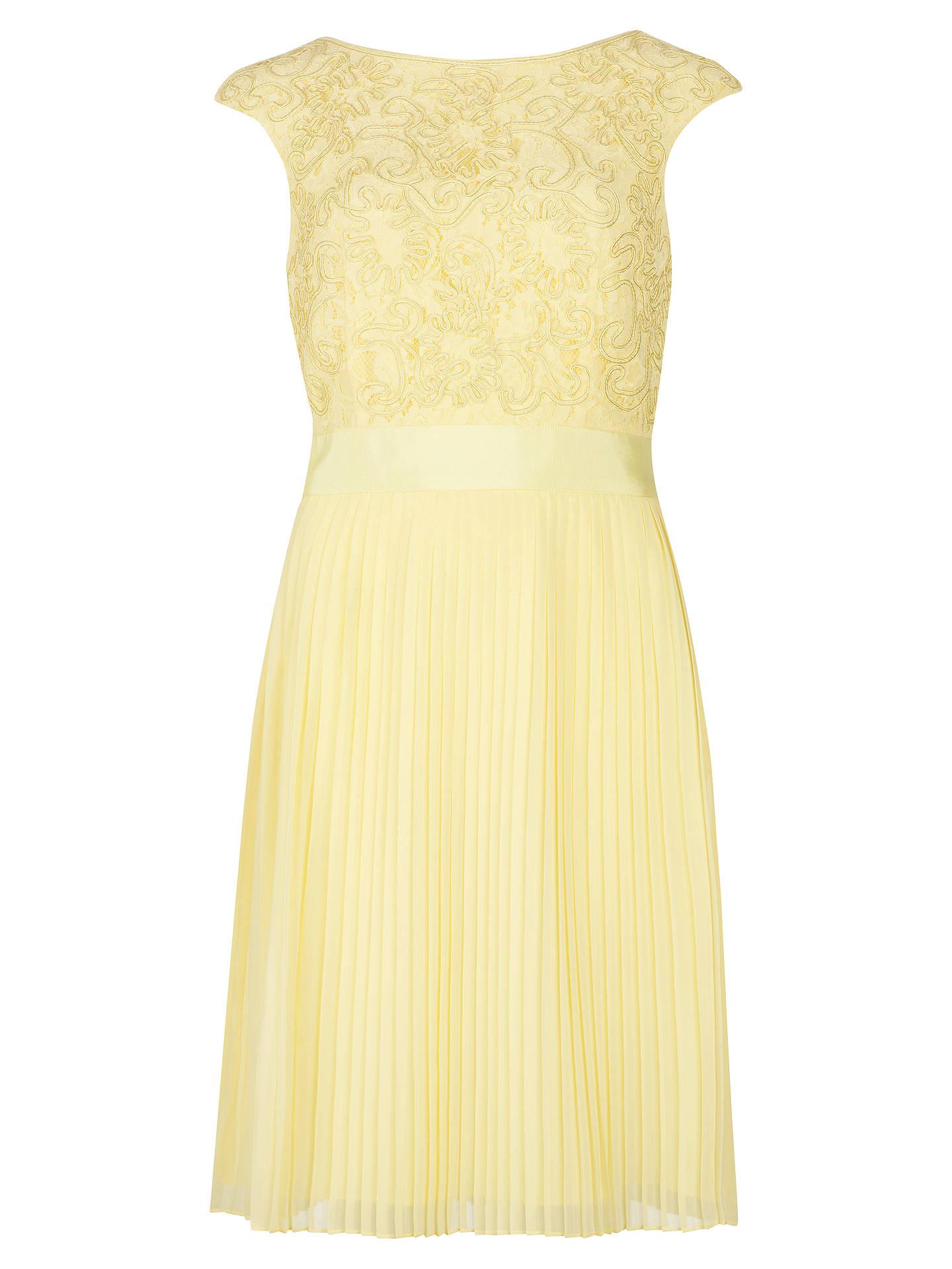 Ted Baker Aliana Lace Detail Dress, Lemon at John Lewis & Partners
