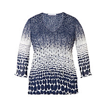 Buy Chesca Laser Top, Navy/White Online at johnlewis.com