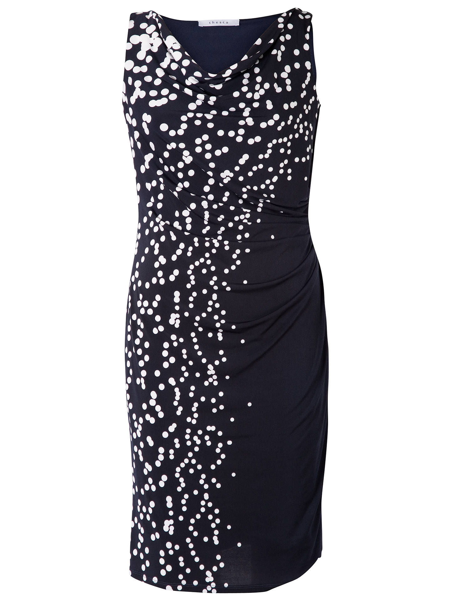 Buy Chesca Spot Dress, Navy/White, 14 Online at johnlewis.com